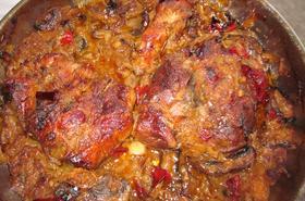 Свинско печено с лук