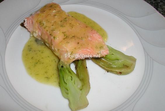 Варена риба  със  сос
