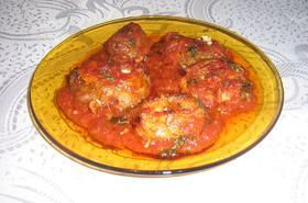 Замразена риба на фурна с доматен сос