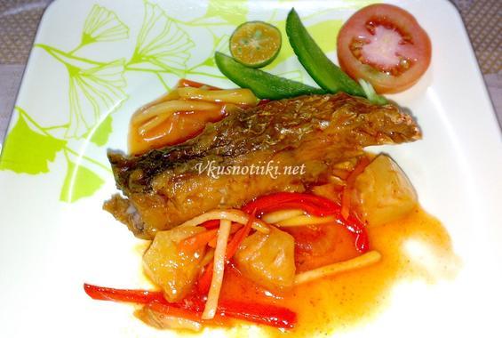 Запържена риба с джинджифил