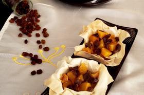 Кошнички с тиква и сушени плодове