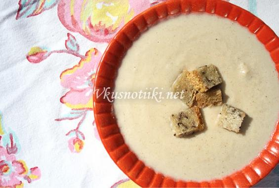 Крем супа от карфиол с крутони