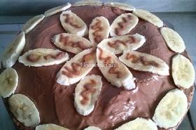 Пандишпаново-шоколадов кейк