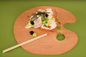 Тартар от Сьомга с оризов чипс
