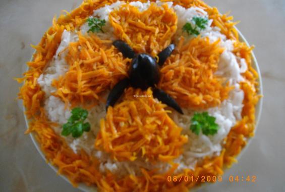 Зимна салата от ряпа и моркови