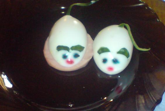 Мишки от яйца