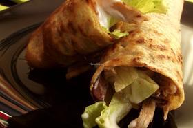 Палачинки с ленено брашно и пилешко месо