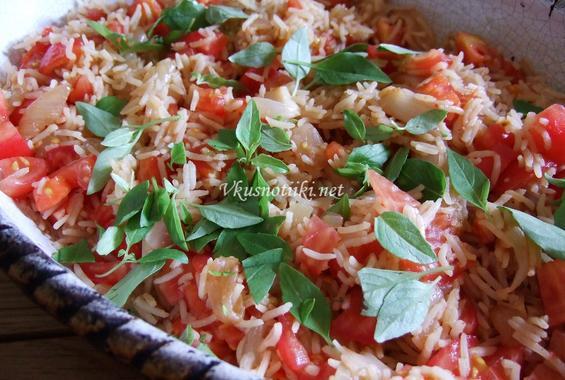 Домати с ориз на фурна