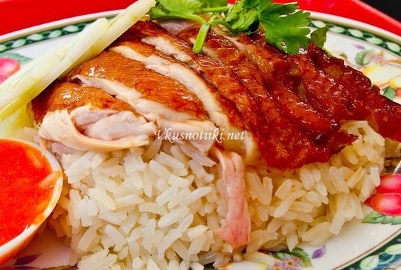 Пиле с ориз и чесън