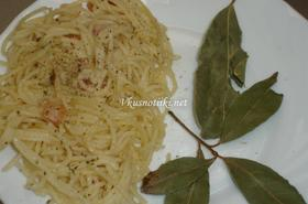 """Спагети """"четири сирена"""""""