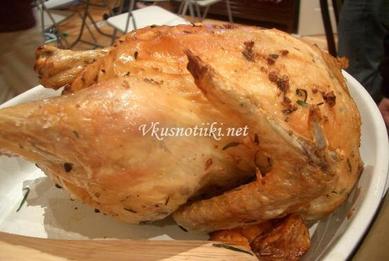 Пиле с топено сирене