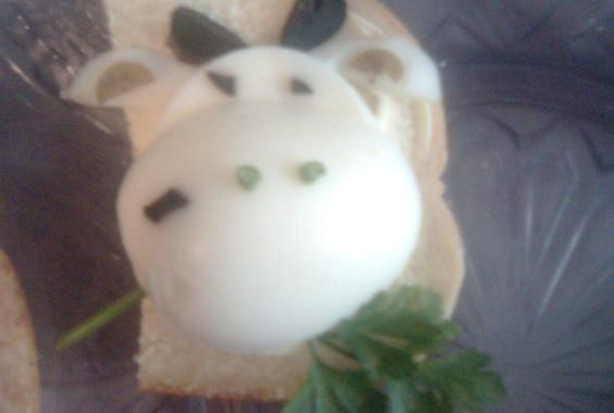 Сандвичи за детско парти ''крава''