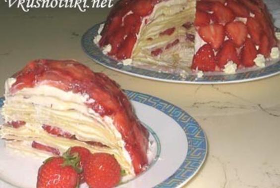 Сладка палачинкова торта